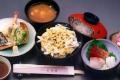 深川丼+天麩羅+刺身セット