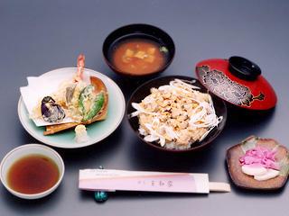 深川丼+天麩羅セット