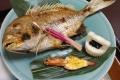 お食い初めセットの鯛姿焼き