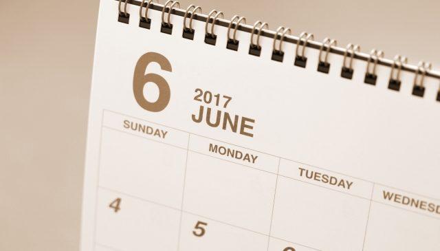 6月の定休日