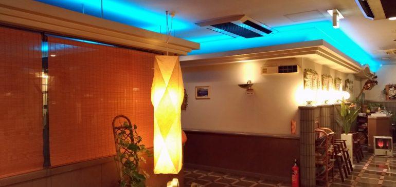 レストラン三州家の照明